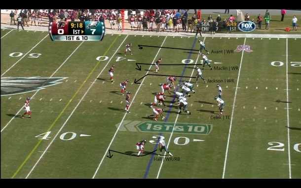 3 x 1 alignment w/ a TE in the backfield.